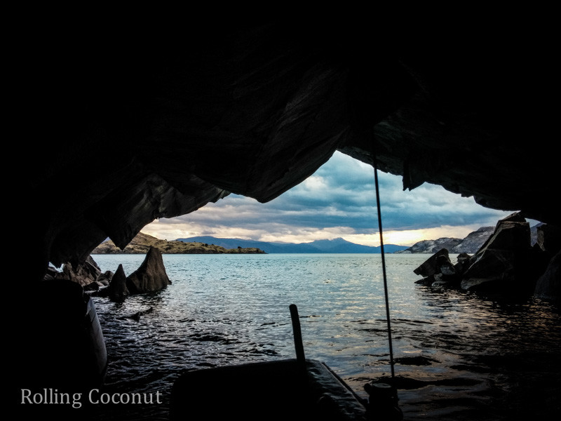 Puerto Rio Tranquilo Chile Marble Caves Looking Out Rolling Coconut OOAworld Photo Ooaworld