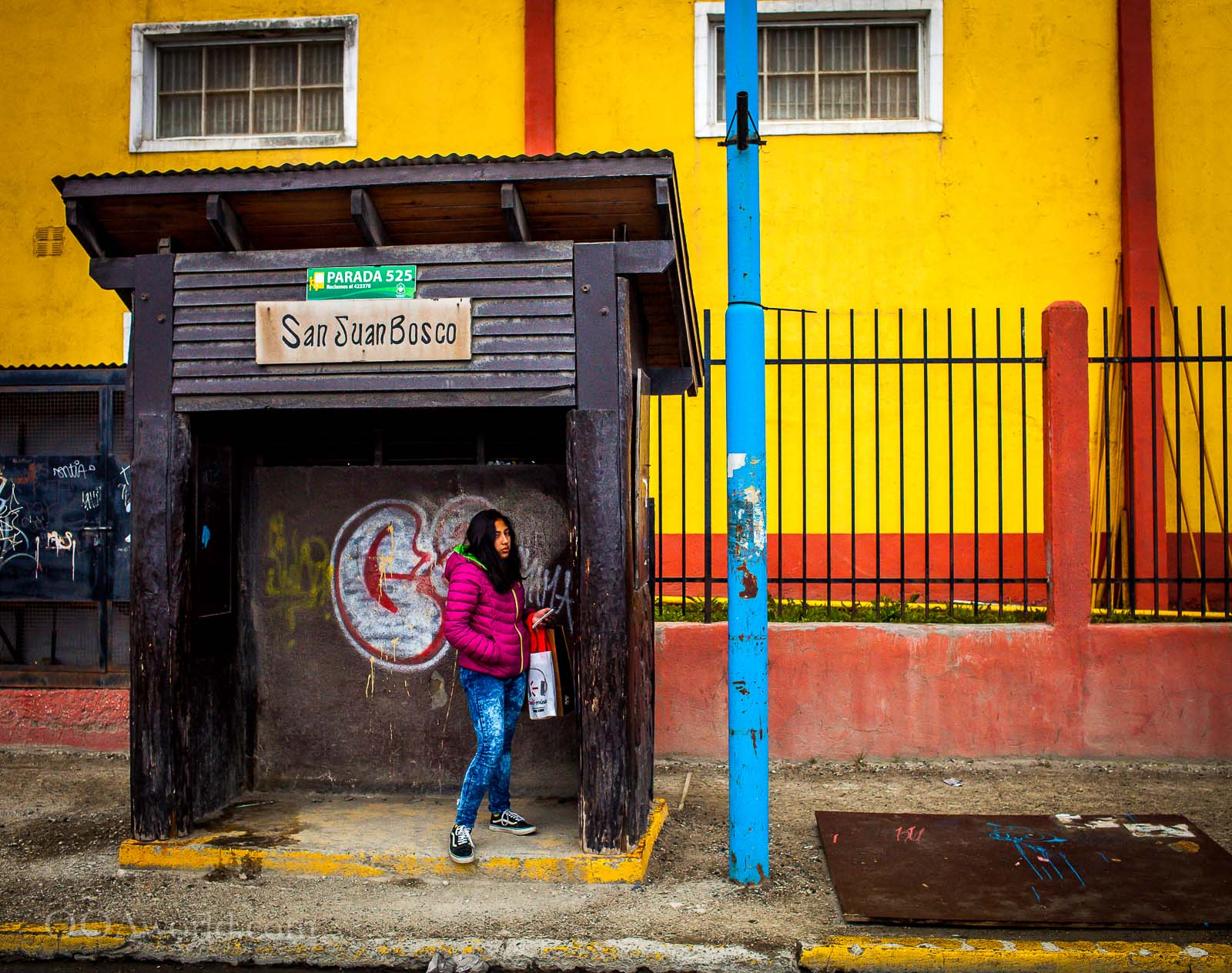 Ushuaia Bus Stop Colors Photo Ooaworld