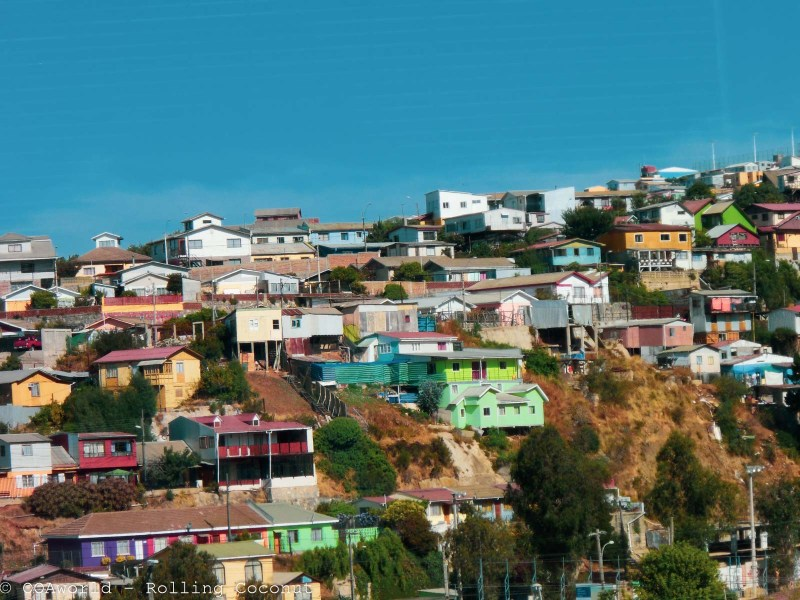 Homes Hills Valparaiso Chile Photo Rolling Coconut Ooaworld