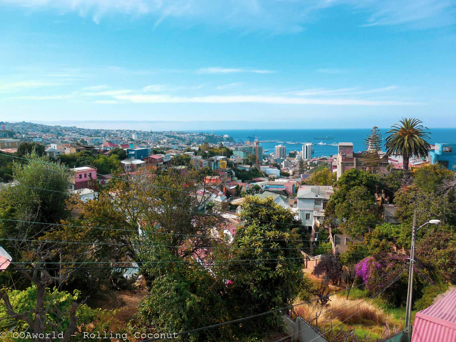 Valparaiso from Pablo Neruda's home, Chile - OOAworld Rolling Coconut