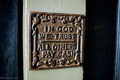 Photos Atlanta Athens in God We Trust All Others Pay Cash USA road trip photo ooaworld