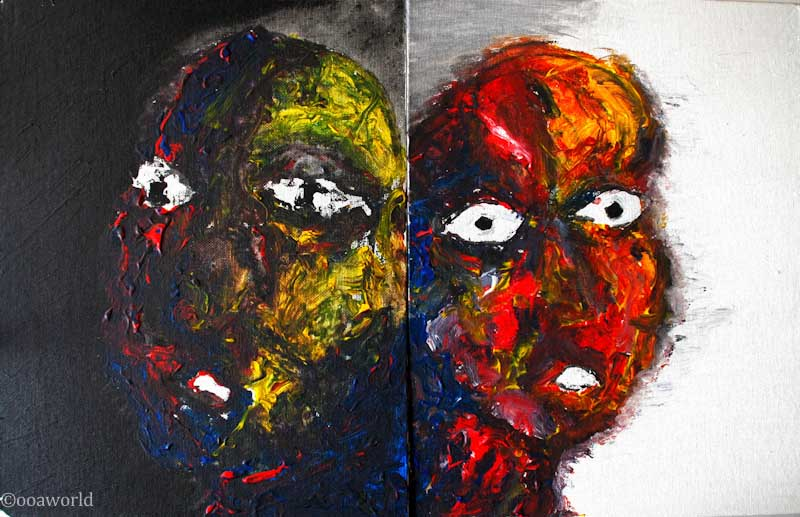 Two-faced-ws art painting ooaworld