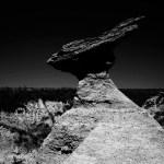 Rock launchpad, South Dakota Badlands