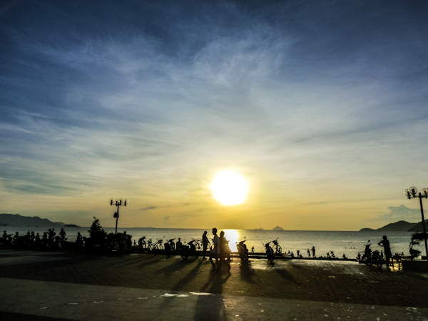 nha trang beach sunrise photo ooaworld Rolling Coconut