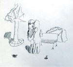 park bench kiss art drawing ooaworld
