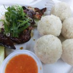 Famosa Chicken RIce Ball Melaka Malaysia photo ooaworld Rolling Coconut