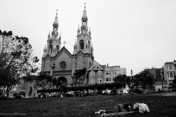 san francisco church sleep USA road trip photo ooaworld