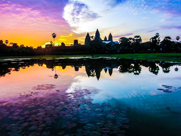sunrise angkor wat cambodia photo ooaworld Rolling Coconut
