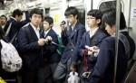 tokyo subway japanese schoolboys photo ooaworld