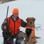 April got 2 birds during a pheasant hunt with friends at Bird's Eye View Game Preserve just east of Coburg.