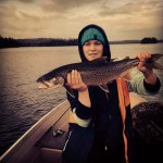 Jade reeled in her biggest Lake Trout while out with her boyfriend and cousin on Hannah Lake.