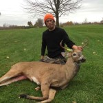 Matt Cornelisse heard something big walking through the leaves and out popped this 5 pointer.