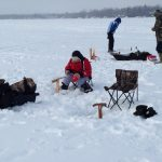 Matthew, 12, caught 10 perch including a 12-inch jumbo over the Family Day long weekend on Lake Simcoe.