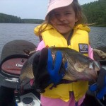 Ella Gutzman landed this 4-lb 8-oz largemouth on opening day of bass 2015 on a small lake in Chalk River. This fish was released after a few pictures.
