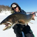 Greg Attard of Bowmanville had a good day during a trip north for lake trout last spring. He landed a big one weighing in at 21 pounds.