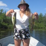 Megan Haggett, 14, loves to fish.