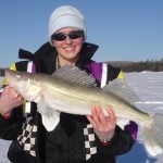 """Michel Roy submitted this photo of """"Lynn"""" holding a five-pounder that she caught in Abitibi Lake while fishing with her dad Mike."""
