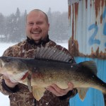 Steve Tardella was fishing with friends when he landed this 11-pound walleye on a four-pound test perch rod.