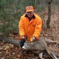 Bud Watson harvested this nice 6 point buck on Nov.4, 2013. He took one shot from his trusty open sighted, .303 at 100 yards — not bad for someone 2 weeks past his 92 birthday.