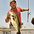trophy fish - Justin Hoffman holding a largemouth bass
