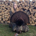 Tierney Cartman, 16, shot this 28-pound tom on opening morning 2014 while hunting with her dad, Dave, near Cobden. It had a 8-inch beard.