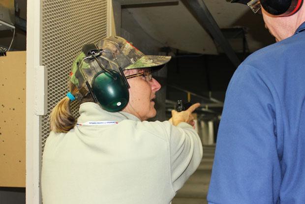 Lezlie Goodwin on the range