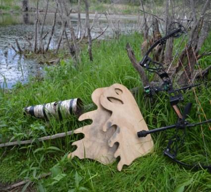 bull moose - wood antlers