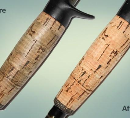 DIY cork grip before after