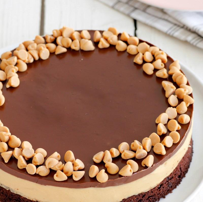 עוגת שוקולד, קפה וחמאת בוטנים