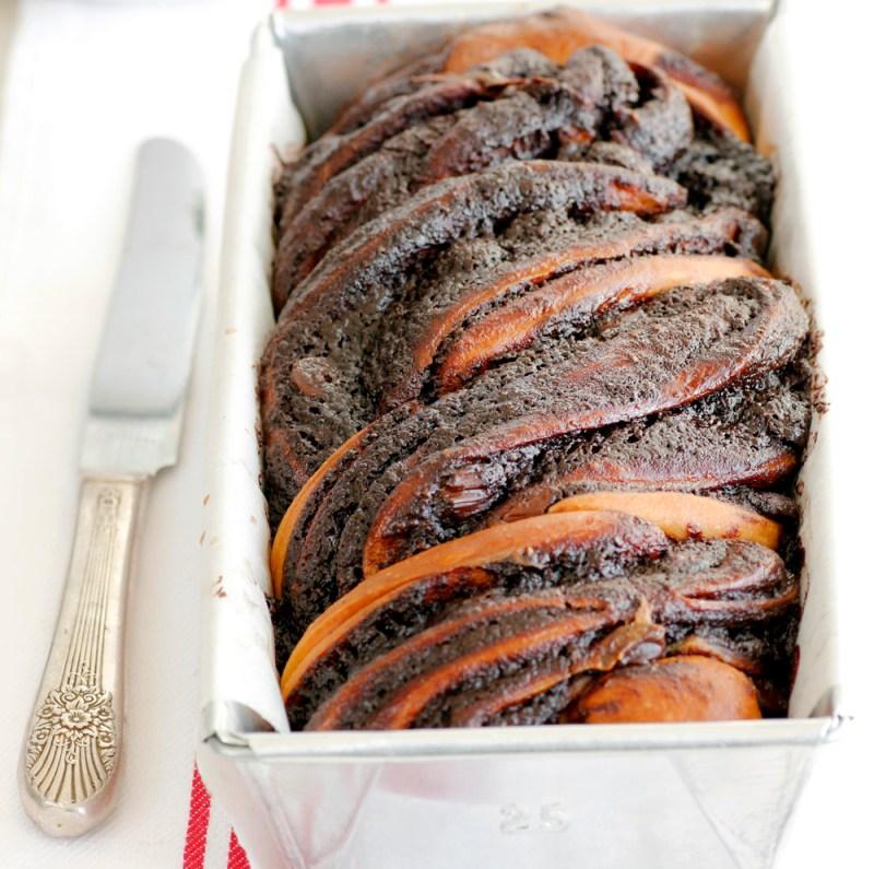 עוגת שמרים טבעונית במילוי שוקולד