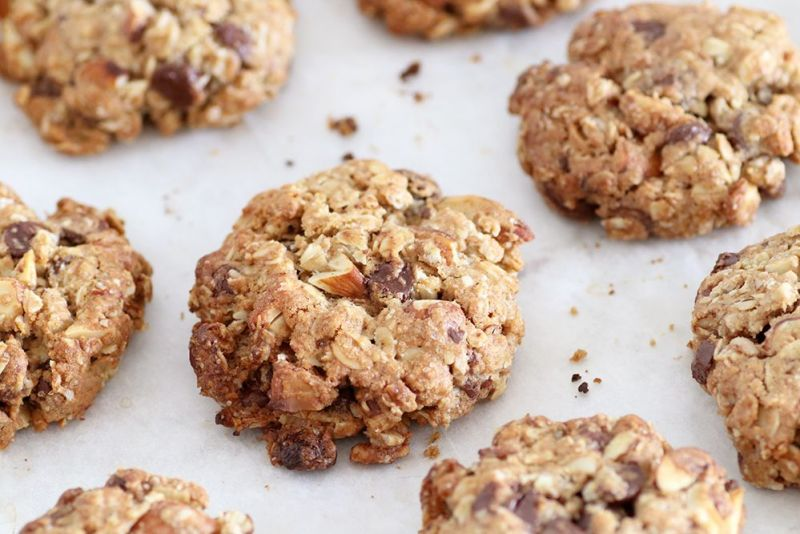 Chocolate Chip Granola Cookies with Almonds