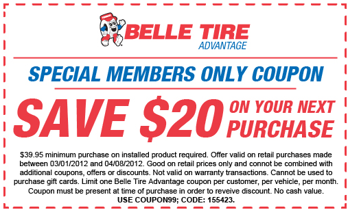 Belle Tire Coupons 2020 All Coupon Codes Promo Codes