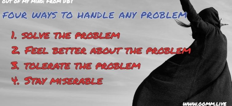 4 Ways To Handle Any Problem (from DBT)
