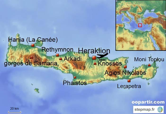 Crete Carte De La Crte