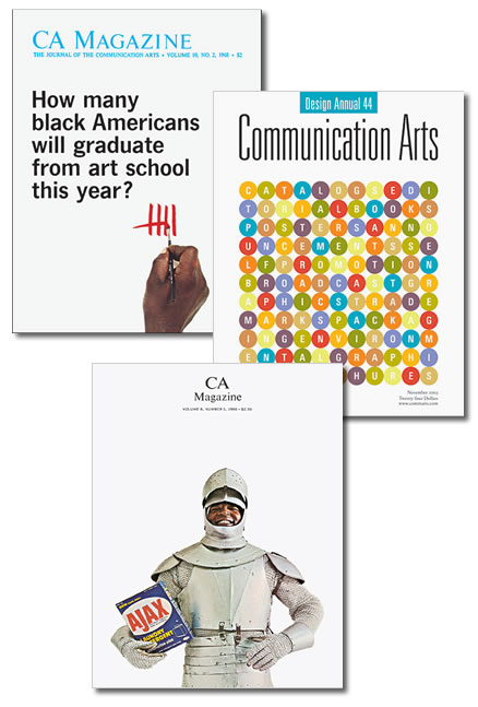 portadas de la revista communication arts, mas de cuatro decadas de diseño americano