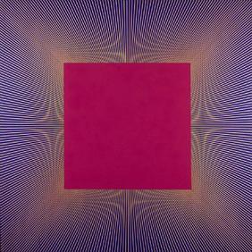 Deep Magenta Square - Richard Anuszkiewicz - 1978