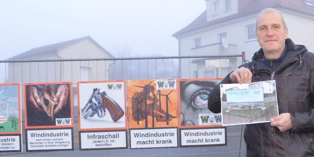 Anti-Windkraft-Banner geklaut
