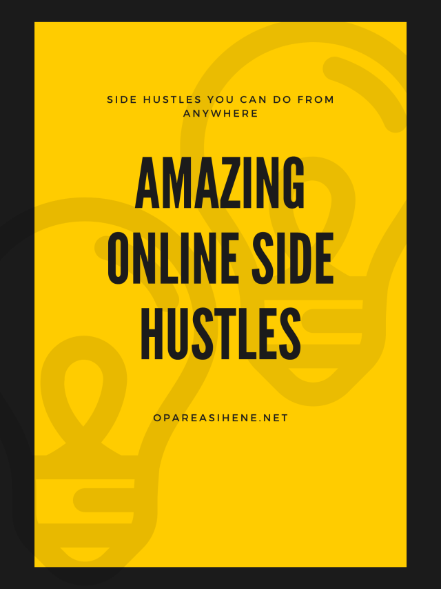 Amazing online side hustles and why you need one.