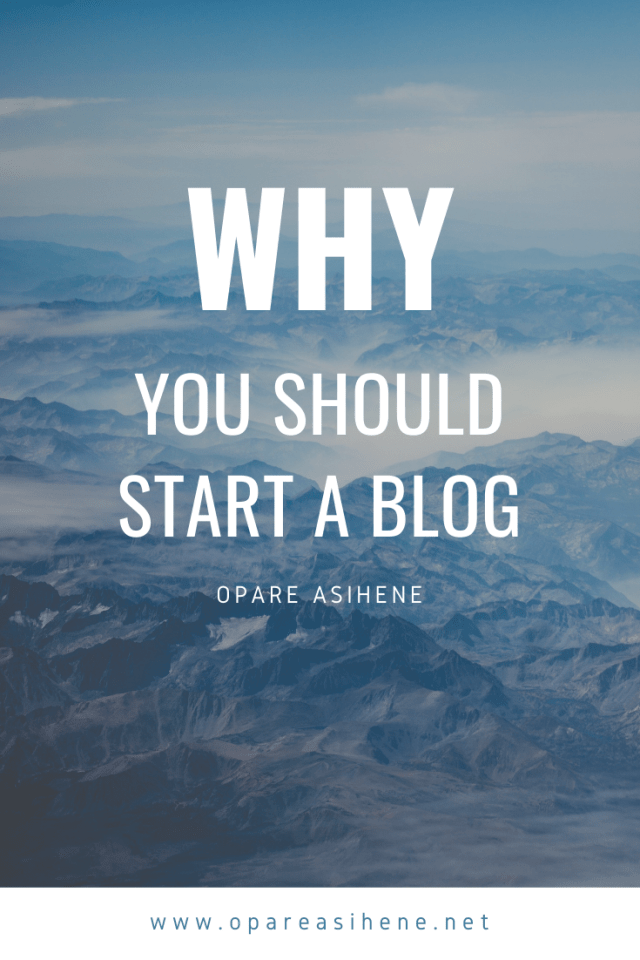 Why people start blogs