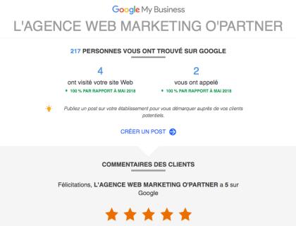 opartner vu sur google
