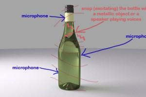 Mollspeak resonant wine bottle