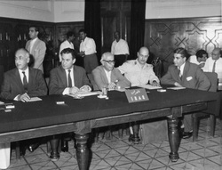 The delegation of Iraq to the historic 'Baghdad Conference' held between 10-14 September 1960