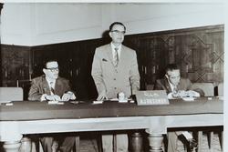 The delegation of Venezuela to the historic 'Baghdad Conference' held between 10-14 September 1960