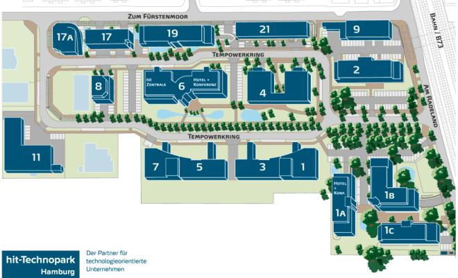 Lageplan hit-Technopark