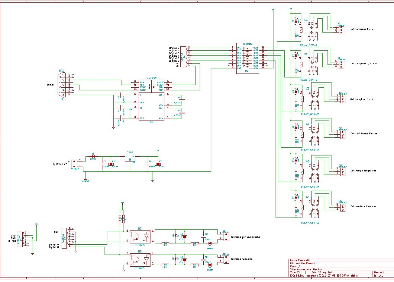 Control Lights And Antitheft With Arduino Via Bluetooth Open Circuit Diagram Electronic Design Before You Start The Software Automazione Giardino On Pc We Associate Using Appropriate Utility Module