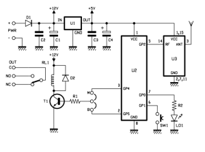 A simple 1 Channel remote control Receiver at 433,92 MHz | Open Electronics