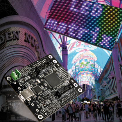 A FPGA controlled RGB LED MATRIX for Incredible Effects