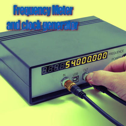 An Open Source Frequency Meter and clock generator | Open Electronics