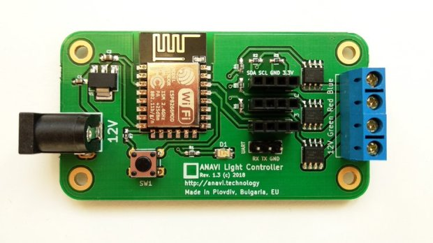 Open Source ESP8266 based Light Controller on CrowdSupply
