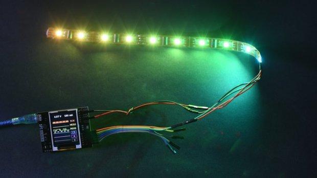 SPIDriver driving a LED strip.